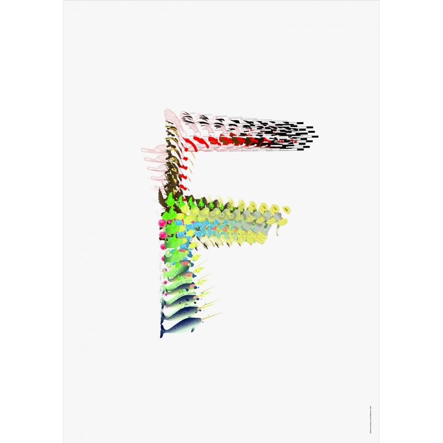 """Poster """"la Snuffféerie"""" - Letter F"""